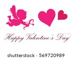 cupid heart abstract background ... | Shutterstock .eps vector #569720989