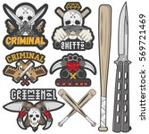 set of agressive gang and... | Shutterstock . vector #569721469