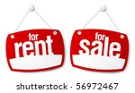 property sale and rent signs | Shutterstock .eps vector #56972467
