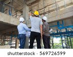 construction concepts  engineer ... | Shutterstock . vector #569726599