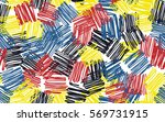seamless pattern. casually... | Shutterstock .eps vector #569731915