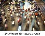 traffic jam   blur image. | Shutterstock . vector #569737285