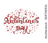 inscription   valentine's day.... | Shutterstock .eps vector #569740531