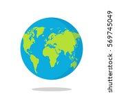earth globe isolated on white... | Shutterstock .eps vector #569745049
