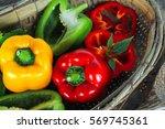 Fresh Bell Pepper Or Capsicum ...