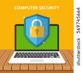 computer security concept.... | Shutterstock .eps vector #569745664
