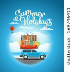 vacation travelling composition ... | Shutterstock .eps vector #569746411