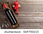 valentines day greeting card.... | Shutterstock . vector #569750215