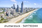 gold coast  australia   january ... | Shutterstock . vector #569750344