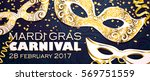 realistic carnival mask in gold ...   Shutterstock .eps vector #569751559