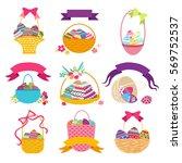 Set Of Easter Basket With Egg....