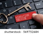 closed up finger on keyboard... | Shutterstock . vector #569752684