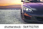 close luxury cars as the sun... | Shutterstock . vector #569752705