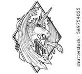 graphic crystallizing demonic... | Shutterstock .eps vector #569754025