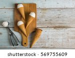 vanilla ice cream with copyspace | Shutterstock . vector #569755609