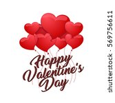 modern romantic happy valentine ... | Shutterstock .eps vector #569756611