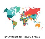 map  world | Shutterstock .eps vector #569757511