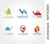 camel logo design template.... | Shutterstock .eps vector #569762005