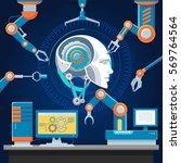technologic futuristic industry ... | Shutterstock .eps vector #569764564
