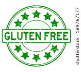 grunge green gluten free with... | Shutterstock .eps vector #569767177