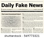 front page of daily fake news... | Shutterstock . vector #569773321
