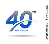 40 years anniversary... | Shutterstock .eps vector #569782501
