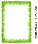 Vector Fresh Grass Frame With...