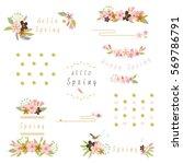 Stock vector flower frame illustration 569786791