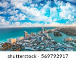 miami beach buildings and... | Shutterstock . vector #569792917