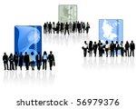 illustration of banking card... | Shutterstock .eps vector #56979376