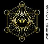 eye of providence. all seeing... | Shutterstock .eps vector #569798239