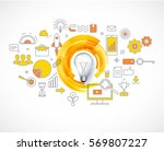 business concepts  idea loading ... | Shutterstock .eps vector #569807227