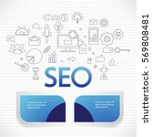 concept of seo technology  web... | Shutterstock .eps vector #569808481