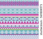 ethnic seamless pattern with...   Shutterstock .eps vector #569808571