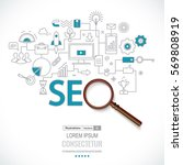concept of seo technology  web... | Shutterstock .eps vector #569808919