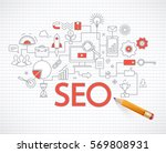 concept of seo technology  web... | Shutterstock .eps vector #569808931