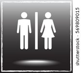 male and female sign icon ... | Shutterstock .eps vector #569809015
