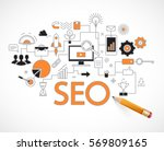 concept of seo technology  web... | Shutterstock .eps vector #569809165