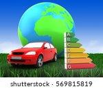 3d illustration of car over... | Shutterstock . vector #569815819
