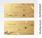 set of stylish gift vouchers... | Shutterstock .eps vector #569818369