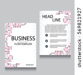 vector brochure flyer design... | Shutterstock .eps vector #569821927