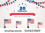happy presidents  day  flyer ... | Shutterstock .eps vector #569829889