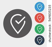 location pin icon illustration... | Shutterstock .eps vector #569835235