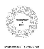 pregnancy related banner. eps... | Shutterstock .eps vector #569839705
