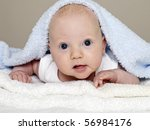 close up of cute baby | Shutterstock . vector #56984176