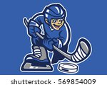 kid playing hockey ice | Shutterstock .eps vector #569854009
