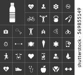 bottle. health icon set on gray
