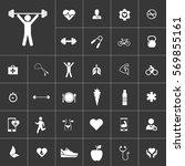 health icon set on gray...