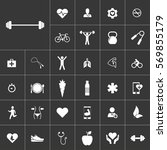 barbell. health icon set on...