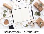 workspace. wedding planner.... | Shutterstock . vector #569856394